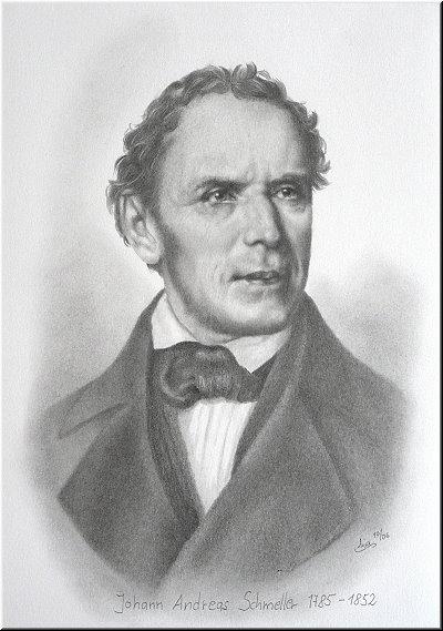 Portraitzeichnung &quot;<b>Johann Andreas Schmeller</b>&quot; - buchillustration_schmeller